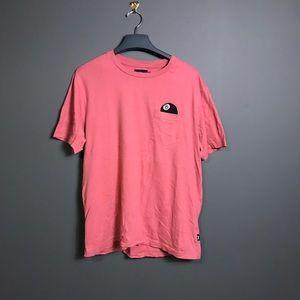 Stussy Salmon Pink T-shirt Slim fit Large 8-Ball